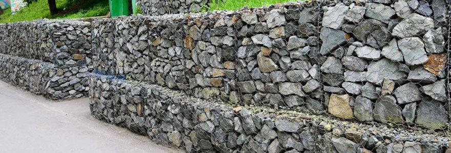 un mur en gabion